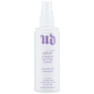 Urban Decay - Chill Makeup Setting Spray ... Keeps my makeup in place all day, feels cool and light, and leaves my skin looking dewy and fresh... Love!