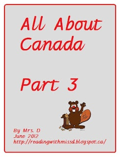 All about Canada unit Part three. Eleven pages dedicated to learning the lyrics to O Canada