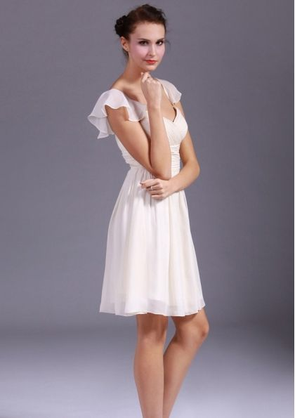 Short Ivory Bridesmaid Dresses - 6100871 - Maternity Bridesmaid Dresses