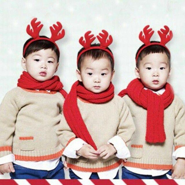 manse. minguk. daehan. #triplets #christmas