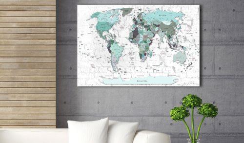 """Quadro in sughero """"Sky-blue Border [Cork Map]"""" è il prodotto per le persone che cercano le decorazioni originali per pareti. Il materiale ecologico e il disegno originale """"Sky-blue Border [Cork Map]"""" rendono la semplice lavagna in sughero in una decorazione di stile che puoi usare in modi diversi. Ai quadri in sughero si può attaccare le puntine, evidenziare sulle mappe i posti già visitati, appendere gli appunti e le foto."""