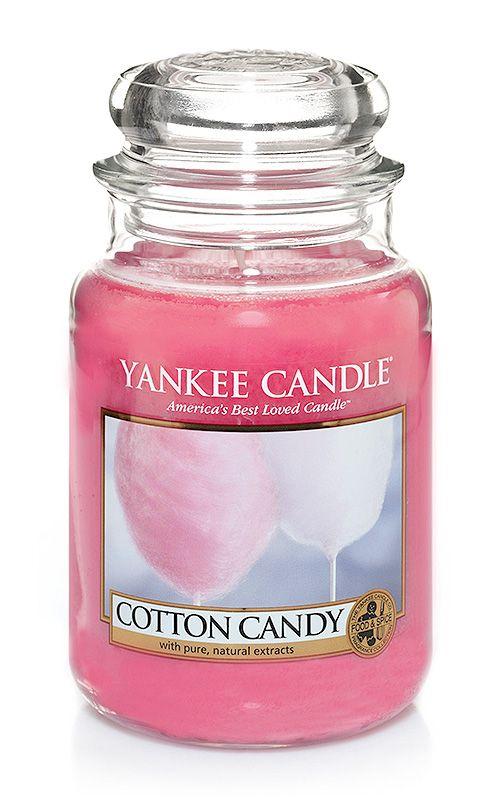 Yankee Candle – vonná svíčka Cotton Candy, velká