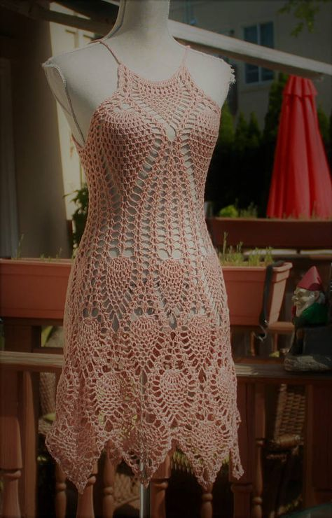 SALE : Beach dress  cover up / Crochet cotton lace / One Of A