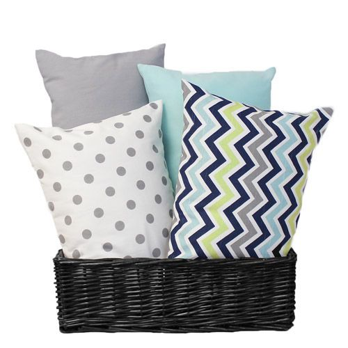 Lumbar pillows are decorative as well as providing support for mom or dad's back while rocking baby.