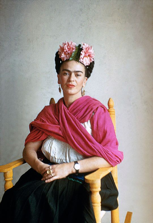 "vintagegal: "" Frida Kahlo photographed by Nickolas Muray, 1940 """