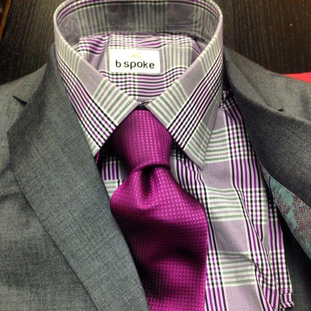 Mens Cotton Pocket Square - magenta-ish purple by VIDA VIDA SWXp3HcIo