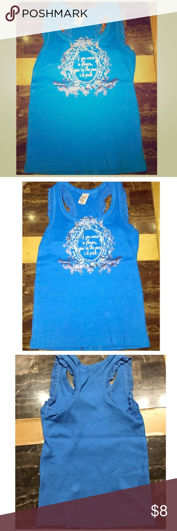 Blue Cami Size 3/4 New with out tags! Bundle to save! Shirts & Tops Tank Tops