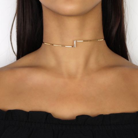 Nikita By Niki gold asymmetric choker necklace simple minimal look for day to night arrives gift wrapped