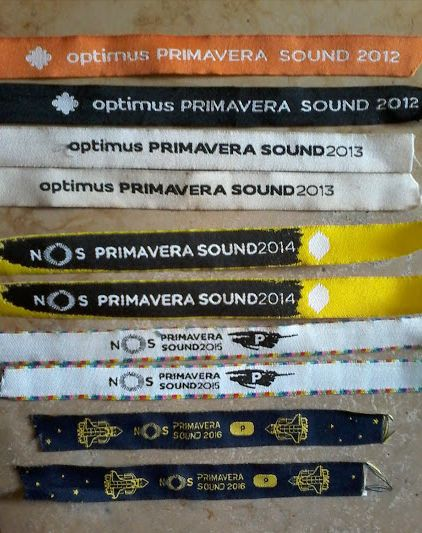my bracelets... my ticksts PRIMAVERA SOUND 2012-2016