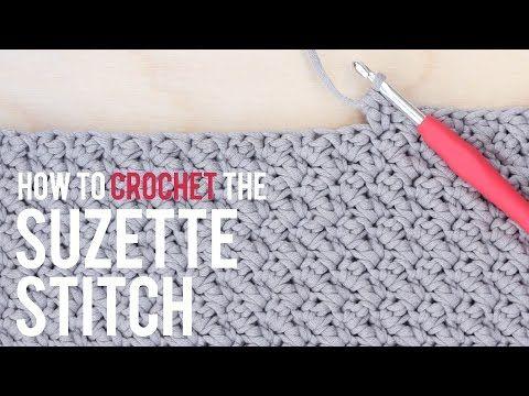 How To Crochet the Suzette Stitch: Beginner Friendly Tutorial - YouTube