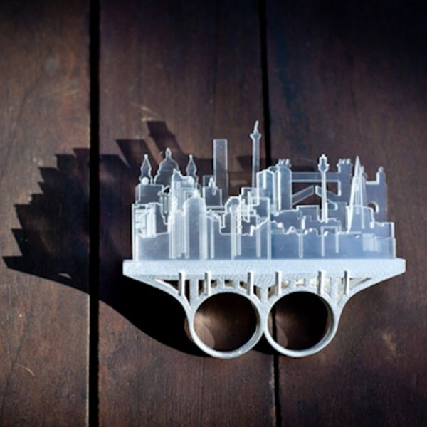 Cityscapes Knuckle Duster Ring from Boticca.com