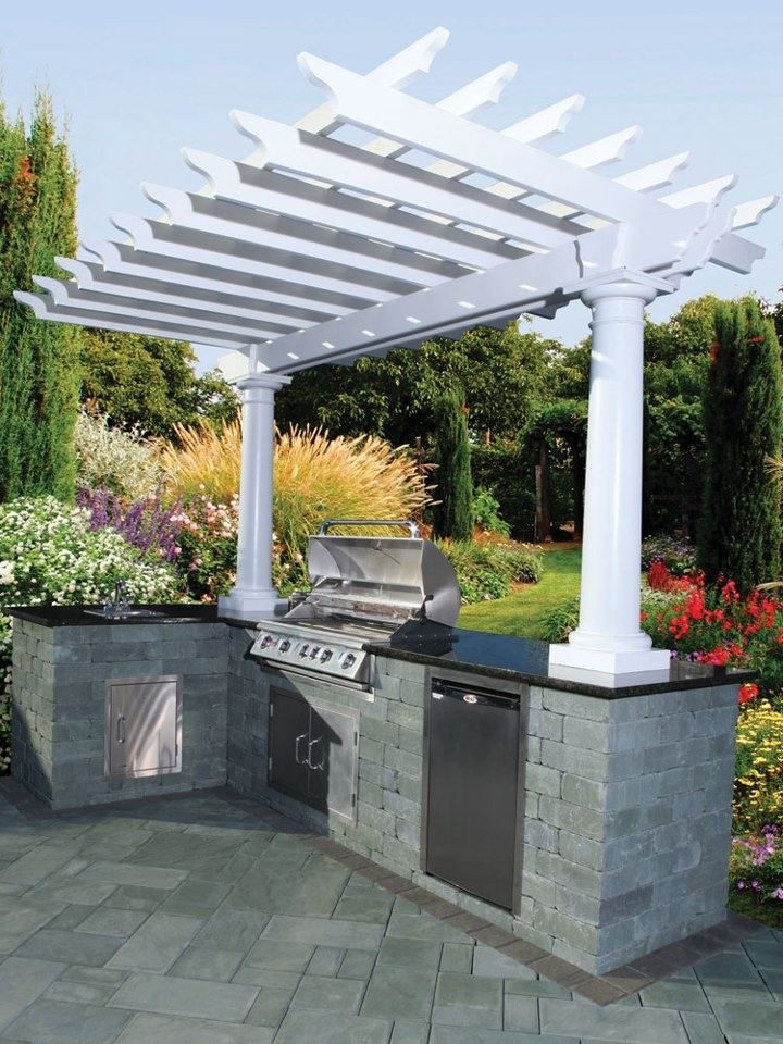18 best images about bbq pergola ideas on pinterest for Outdoor kitchen under pergola