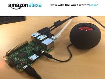 Instructions on how to setup hands-free Alexa on a Raspberry Pi using AVS, a Node.js server, LWA, and 3rd party Wake Word Engines By Amit Jotwani.