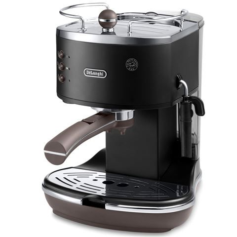 DeLonghi - Icona Vintage Etnica Black Coffee Machine | Peter's of Kensington