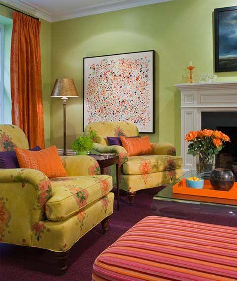 31 best Orange and Green Living Room images on Pinterest ...