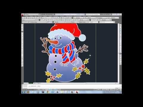 Как в Автокаде нарисовать снеговика? - YouTube