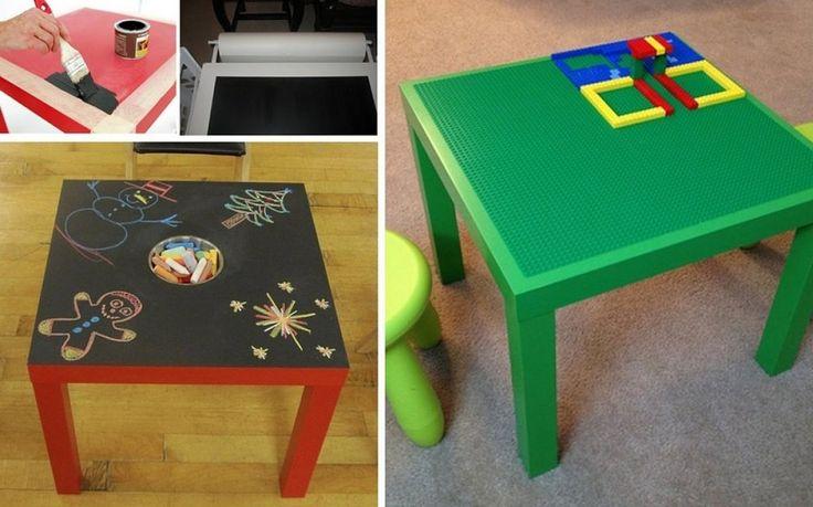 Ideas para tunear una mesa lack de ikea para habitaciones - Ikea mesas infantiles ...