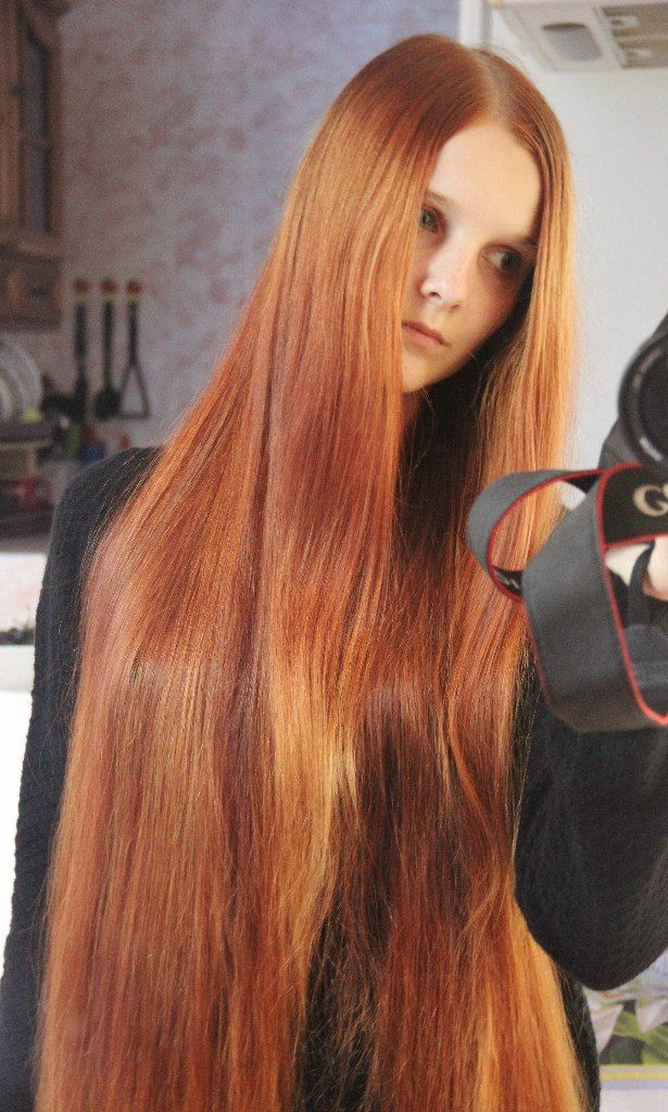 Super long red hair