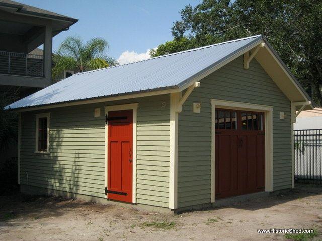 Metal cottage style single car garage google search for Craftsman carport