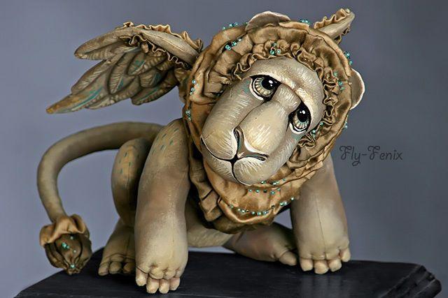 Крылатый венецианский лев Марко - лев,венеция,статуя,крылатый,крылья,золотой
