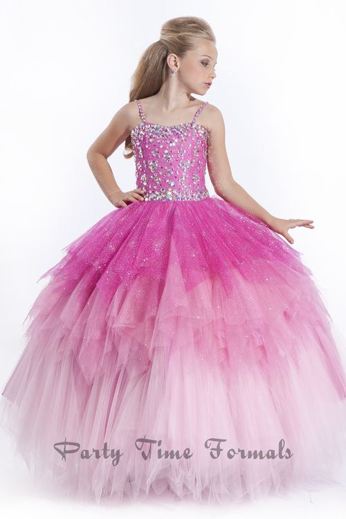 Rachel Allan Perfect Angels 1541 is brand new for Spring 2014 and definitely her dream dress. Be the Princess you really are in this one of a kind girls pageant gown. This stunning pageant dress for girl is definitely a winner all the way.