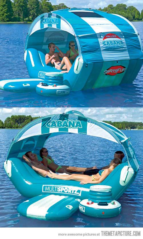 floating cabana. cooler & all!