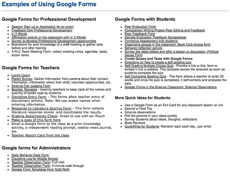 So Many Examples Of How To Use Google Forms With Students