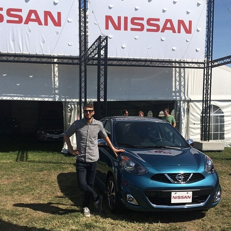 The one and only Kyle just hangin' out with Nissan at the Georgian College Auto Show
