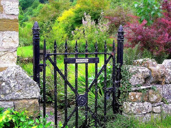 English Garden Gate Greeting Card by Jen White