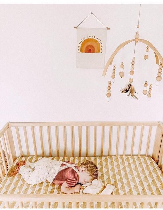 Mustard Baby Bedding Rainbow Nursery Crib Sheets Mini Crib Etsy