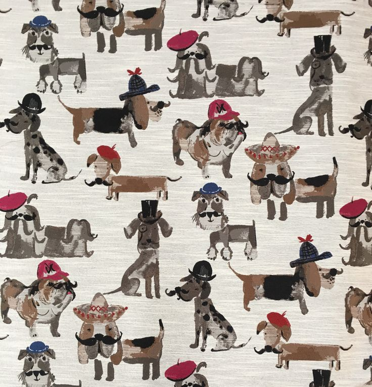 Fun fabric for dog lover's! 89% Polyester/11% Rayon. Make your dogs' chair/bed, really special..with his/her own fabric!