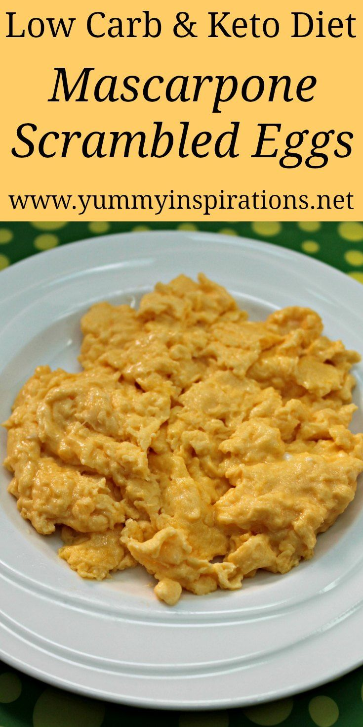 Mascarpone Scrambled Eggs Recipe Easy Meals Food Recipes