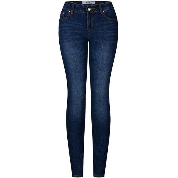Amazon.com: 2LUV Women's Stretchy Five Pocket Skinny Denim Jeans:... ($15) ❤ liked on Polyvore featuring jeans, skinny jeans, super stretch jeans, blue jeans, stretchy jeans and stretch blue jeans