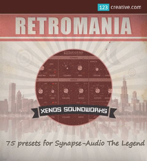 ► RETROMANIA PRESETS for Synapse Audio The LEGEND SYNTHESIZER - presets with a strong retro character, for producers of 70s and 80s Pop music, Synthwave, Funk, Classic Rock and more. Download: http://www.123creative.com/electronic-music-production-the-legend-presets/1413-retromania-presets-for-synapse-audio-the-legend-synthesizer.html
