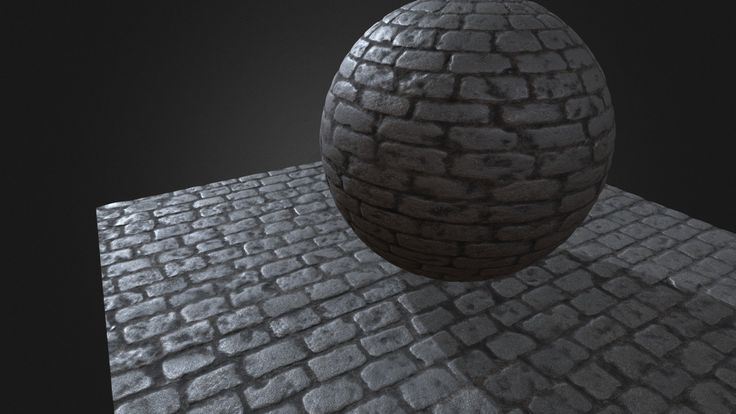 Granite cobblestone PBR tiled material builded from photogrammetry data.<br>Texture maps at 4k resolution.