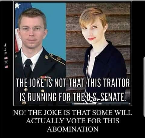 This traitor is running for the Senate as a democrat. What does that tell you?