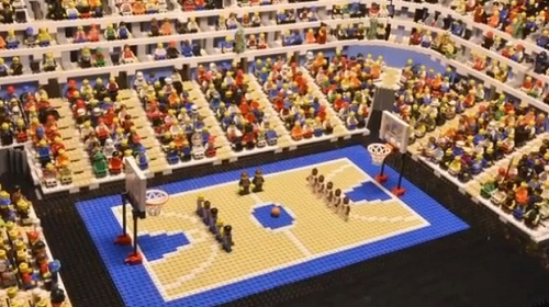 USA Vs France Basketball Match Reconstructed In Stop Motion LEGO Video - DesignTAXI.com