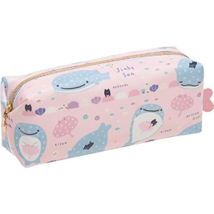 New! Jinbe san Pen Pouch Blue Pink San-X Japan Jinbei F/S #SanX