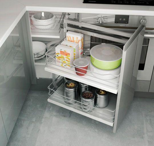 31 best cuisine images on Pinterest Kitchen storage, Organization - amenagement placard d angle cuisine