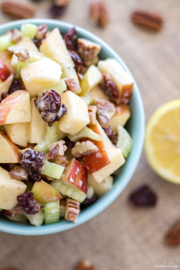 Waldorf salad made with Greek yogurt instead of mayo. | 26 Make-Ahead Foods Perfect For A Spring Picnic