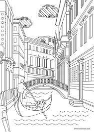 Resultado de imagen para dibujos blanco y negro paisajes venecia
