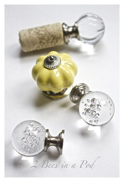 In less than 5 minutes you can make beautiful bottle stoppers from wine corks and drawer pulls. Great for parties and gifts.