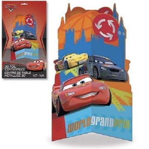 Disney Pixar Cars 3D Foil Centerpiece Birthday Party Decoration World Grand Prix…