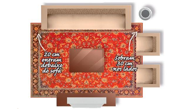Como calcular o tamanho do tapete perfeito para sua sala: proporção é tudo