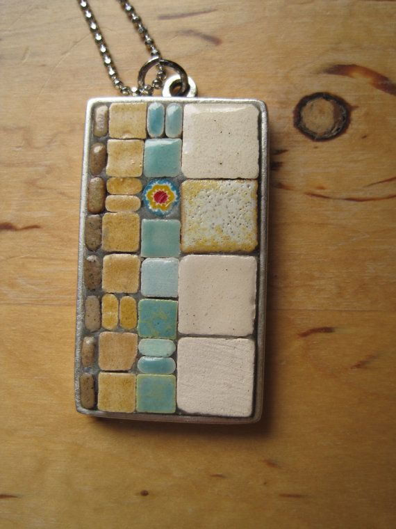 Winter wonderland Mosaic Pendant at StudioSelvaVista on Etsy, $33.00