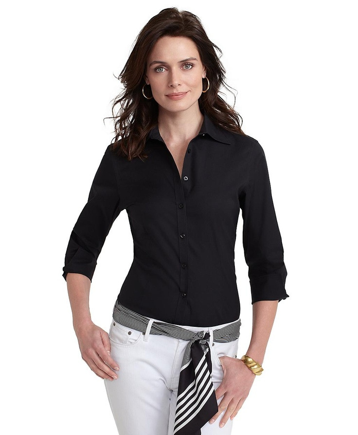 Black dress quarter sleeve shirt