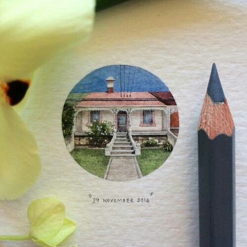 Best Small Art Images On Pinterest Lorraine Miniature - Artist creates miniature paintings everyday entire year
