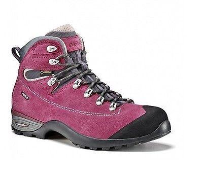 Scarpe donna scarponcini Escursionismo Trekking Approach ASOLO TACOMA GV GTX®  UK 5 - 38 (a  volte potrebbe capitare che la scarpa ordinata non sia in magazzino  perchè venduta in negozio e non ancora scaricata da ebay, in quel caso  provvederemo subito al riaccredito della cifra spesa) TACOMA GV -Womancolore RedbudConsigliata per:  Hiking, passeggiate su sentiero, camminate estive.    Tomaia in pelle scamosciata idrorepellente 1,8 mm. Fodera in  Gore-Tex® impermeabile e traspirante. Inte