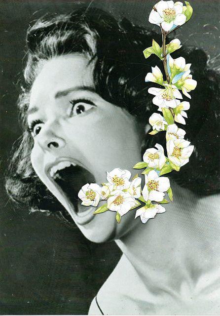 Blumen und Filmposter. o by ben///giles, via Flickr - Surrelaistiese ekletiese kuns idees