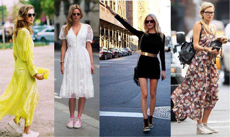 С юбками и платьями